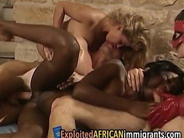 Best Interracial Orgy Scene – Hot Vintage Babes